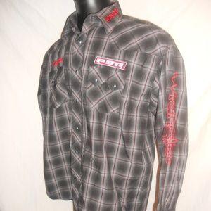 Wrangler PBR Mens Rodeo Long Sleeve Shirt Sz Large